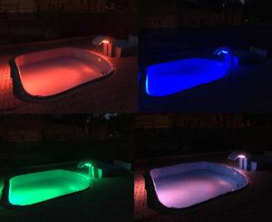 Bazének, barevné osvětlení